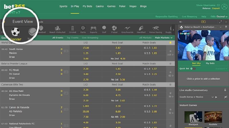 hướng dẫn cách chơi cá cược bóng đá bet365