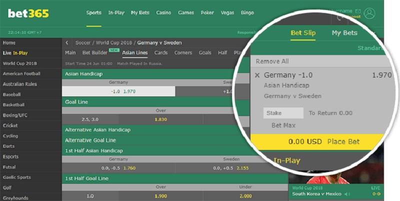 hướng dẫn chơi bet365 chi tiết