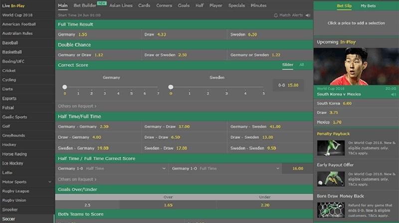 hướng dẫn chơi cá cược bóng đá tại bet365 cho người mới