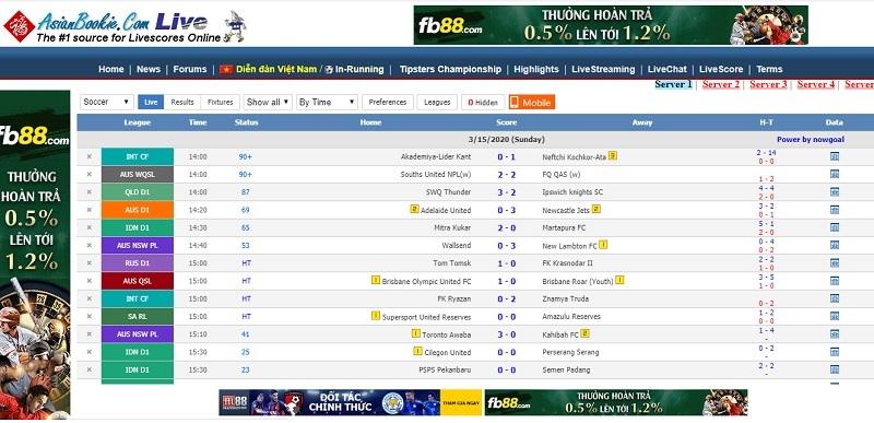 Diễn đàn bóng đá Asianbookie